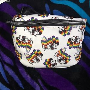 Loungefly Mickey Mouse Rainbow Hip Pack
